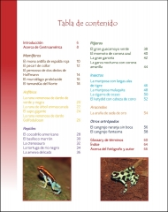 La vida silvestere en Centroamerica 2 - Tabla de contenido